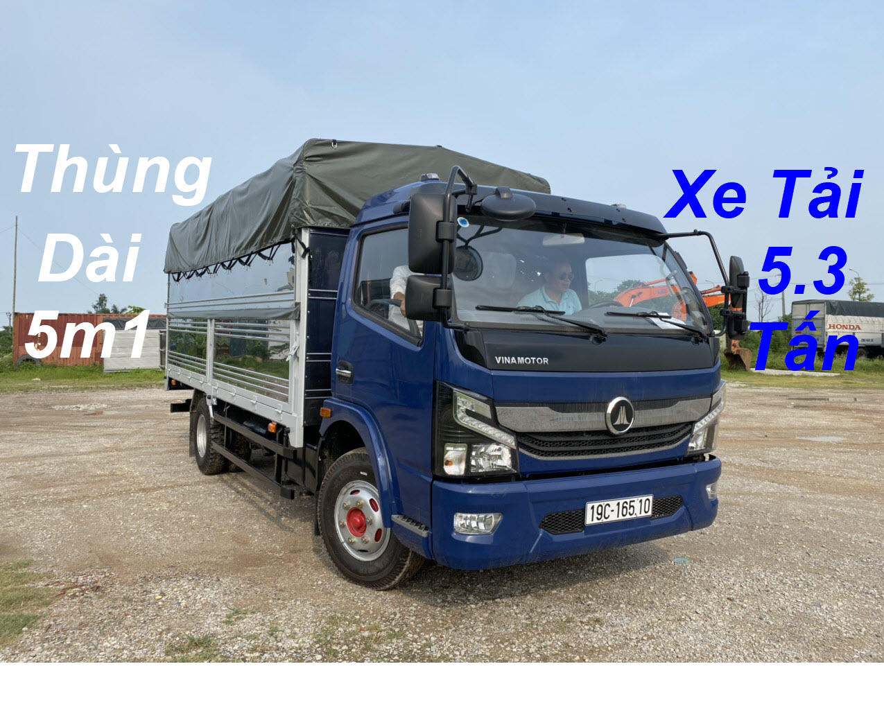Xe Tải 5.5 Tấn Vinamotor K6 Thùng Mui Bạt