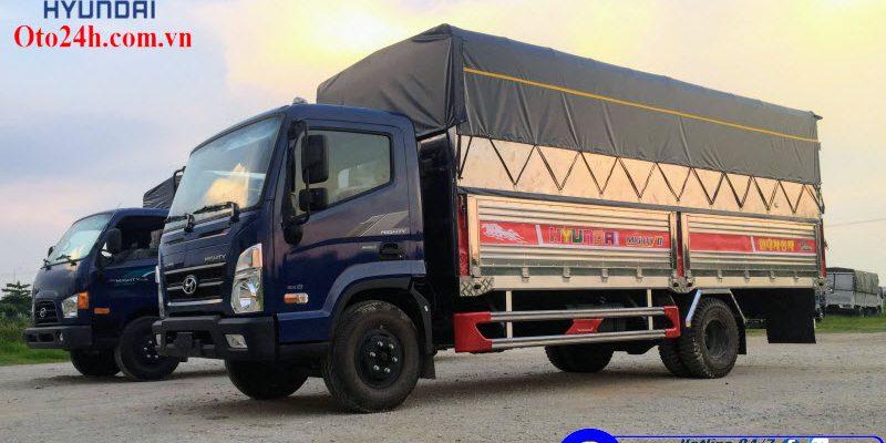 Xe Tải Hyundai Mighty EX8 Thùng Bạt Inox