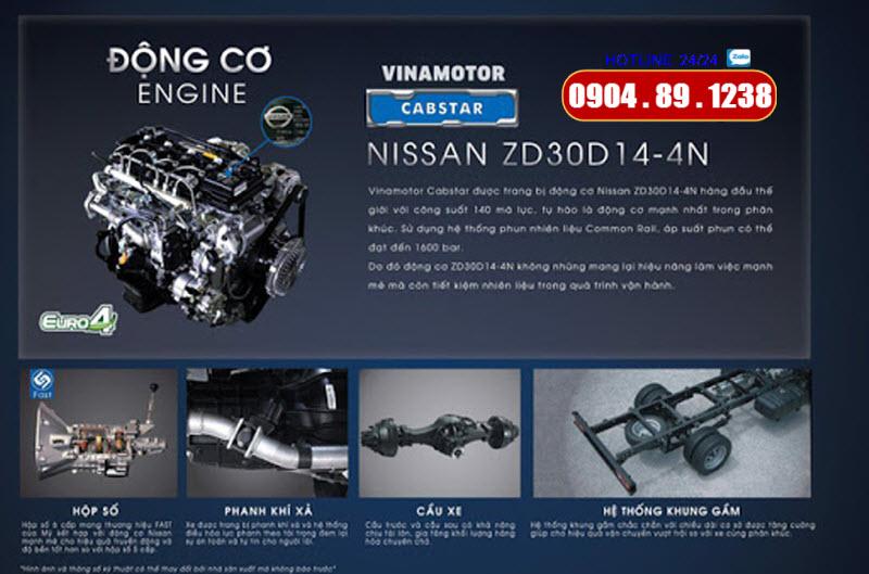 Xe Tải Cabstar NS350 3.5 Tấn Đồng Vàng